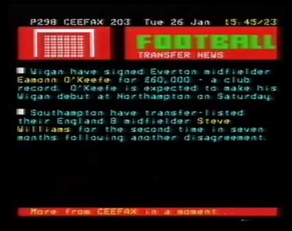 Latics teletext