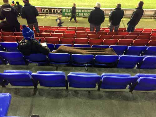 """Things have got so bad at Wigan Athletic that someone is having a nap at the ground."" (c)Wafcsean on Twitter"