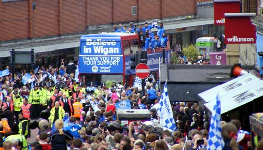 Wigan Athletic parade bus