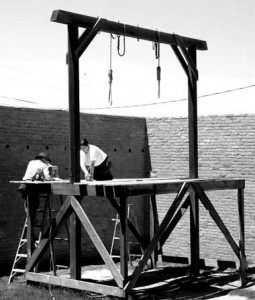 Preparing the gallows
