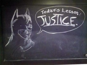Batman chalkboard