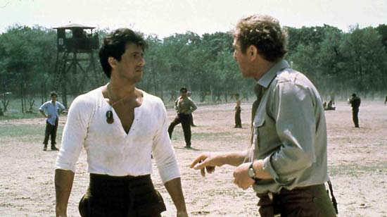 """Did you hear me, Stallone? I can get Arnie in to replace you at a moment's notice.""(c)Respective owner"