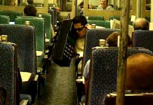 Dom Joly big phone