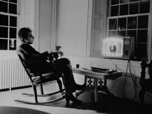 Bob Dylan watching TV