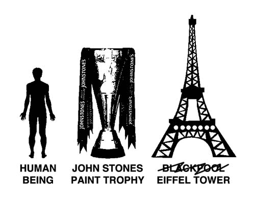 John Stones Paint trophy is massive