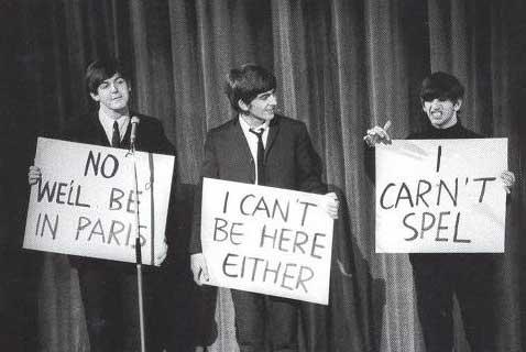 Ringo carn't spell