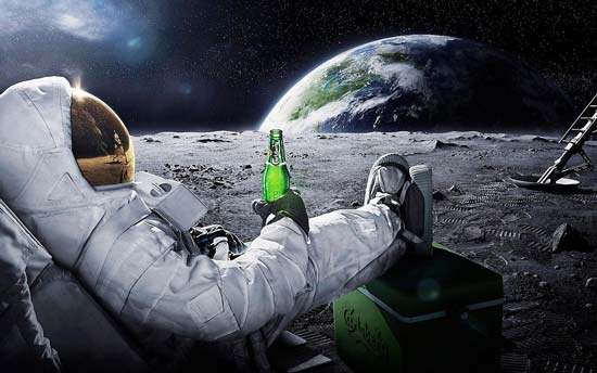 A beer on the moon